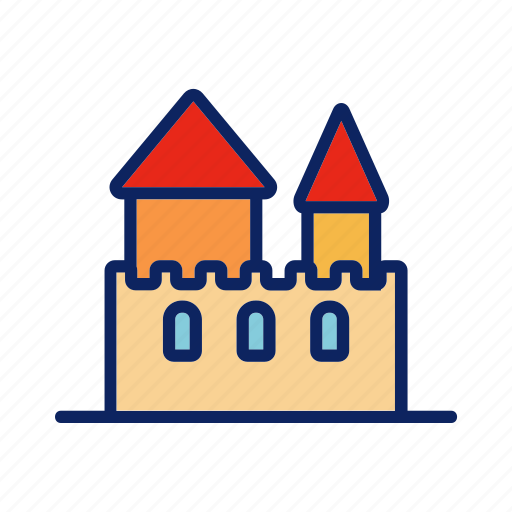 beach, building, castle, fort, sand icon