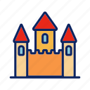 beach, building, castle, royal, sand icon
