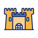 beach, building, castle, sand, sandcastle icon