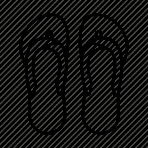 beach, flip, flop, foot, footwear, slippers, summer icon