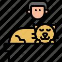 boss, kitty, dream, kitten, sleep, cat, pet
