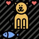 fish, food, domestic, kitty, cat, pet, animal