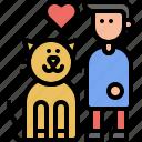 interaction, human, love, kitten, domestic, cat, pet