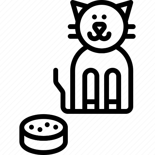 Food, kitten, domestic, kitty, cat, pet, animal icon - Download on Iconfinder