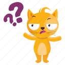 sticker, emoji, question, cat, emoticon