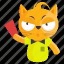 sticker, cat, referee, emoji, judge, emoticon