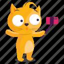 sticker, stick, cat, emoji, selfie, emoticon
