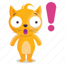 sticker, emoji, emoticon, cat, surprise