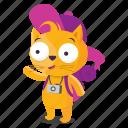 cat, emoji, emoticon, sticker, tourist icon