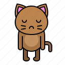 avatar, cat, emotion, kitten, sad icon