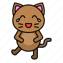 avatar, cat, emotion, kitten, laugh icon