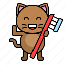 avatar, cat, dental, kitten, toothbrush