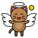 angel, avatar, cat, kitten, wing icon