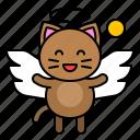 cat, avatar, kitten, wing, angel icon