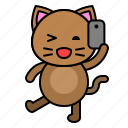 avatar, cat, kitten, selfie, take photo icon