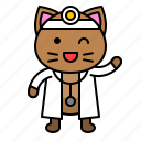 avatar, cat, doctor, health, kitten icon