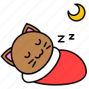 cat, kitten, night, sleep, avatar, moon