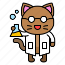 avatar, cat, kitten, research, science icon