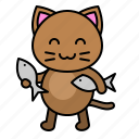 avatar, cat, fish, food, kitten