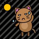 cat, hot, kitten, avatar, sun, sunny