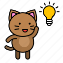 avatar, cat, idea, kitten, thinking icon