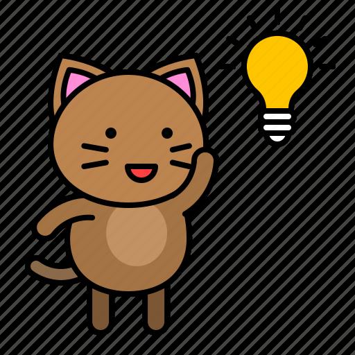 avatar, cat, idea, kitten, thinking icon