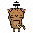 avatar, cat, clean, kitten, shower, take a bath