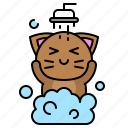 avatar, cat, clean, kitten, shower, take a bath icon