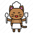 avatar, cat, chef, cook, kitten icon