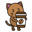 avatar, cat, coffee, kitten, sleepy, take away