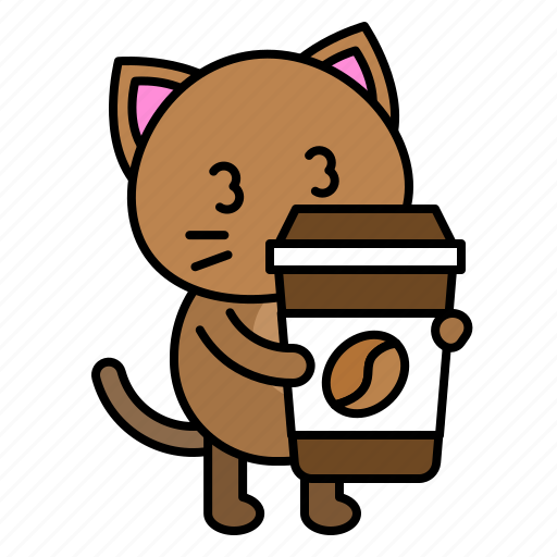 avatar, cat, coffee, kitten, sleepy, take away icon