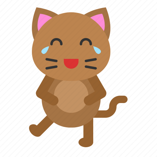 avatar, cat, emotion, kitten, laugh icon