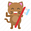 avatar, cat, dental, kitten, toothbrush icon