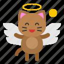 angel, avatar, cat, kitten, wing icon