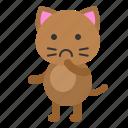 avatar, cat, imagine, kitten, thinking icon