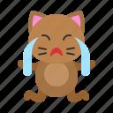 avatar, cat, cry, emotion, kitten, sad icon