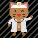 avatar, cat, doctor, health, kitten icon