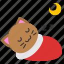 avatar, cat, kitten, moon, night, sleep