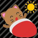 avatar, cat, kitten, morning, sun, wake up