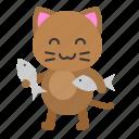 avatar, cat, fish, food, kitten icon