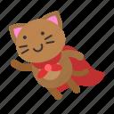 avatar, cat, fly, hero, kitten icon