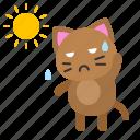 avatar, cat, hot, kitten, sun, sunny