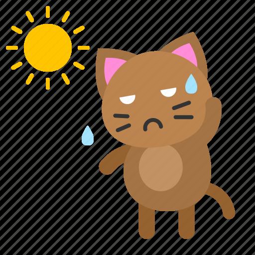 avatar, cat, hot, kitten, sun, sunny icon