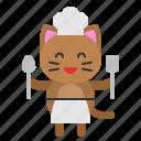 avatar, cat, chef, cook, kitten icon