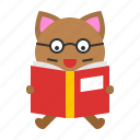 avatar, book, cat, kitten, learning, reading