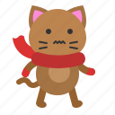avatar, cat, chill, cold, kitten, scarf icon