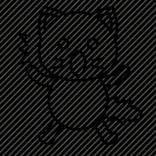 avatar, cat, frightened, kitten, shocked icon