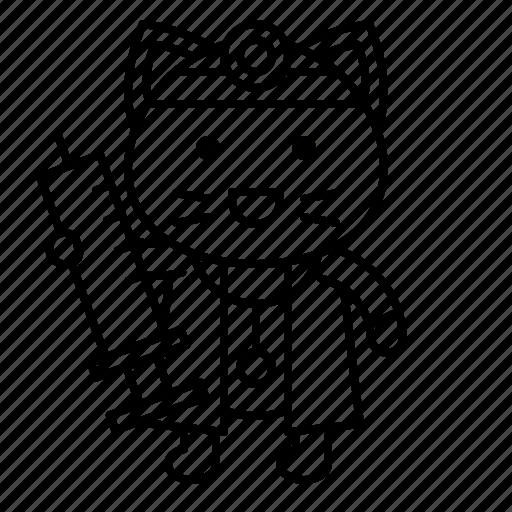 avatar, cat, doctor, kitten, needle, syringe icon