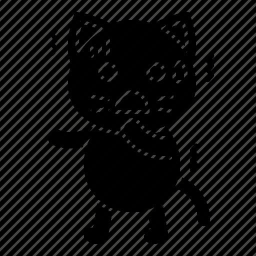 avatar, cat, emotion, fear, frightened, kitten icon