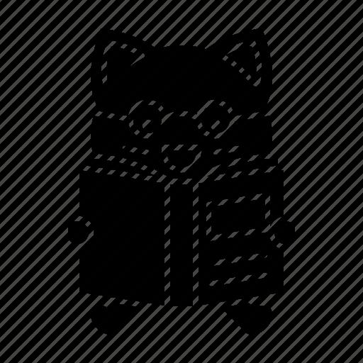 avatar, book, cat, kitten, learning, reading icon